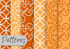 Oranje decor patroon ingesteld