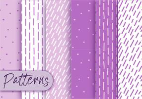 Purple Pattern Set  vector