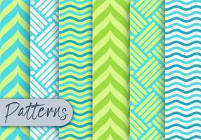 Green Geometric Pattern set  vector