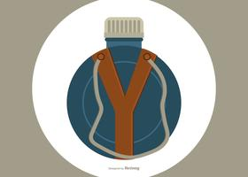 Flat Style Canteen Bottle Illustration