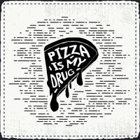 Gratis handdragen Pizza Vector Bakgrund