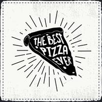 Free Hand Drawn Pizza Vector Background