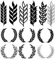 Vector conjunto de iconos de orejas de trigo