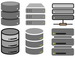 Vector Flat Database Icons