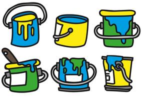 Vector Paint Pot Icon Set