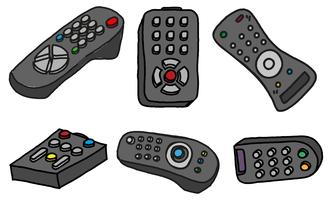 Vector TV Remote Set