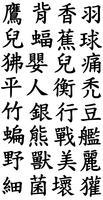 Vector Japanese Kanji Letters