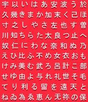Vector giapponese Hiragana simboli