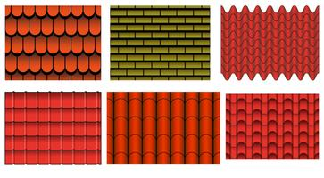 Vektor uppsättning av takplattor mönster