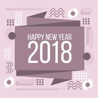 Tarjeta geométrica de año nuevo