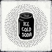 Desenho desenhado à mão livre do vetor do refrigerante