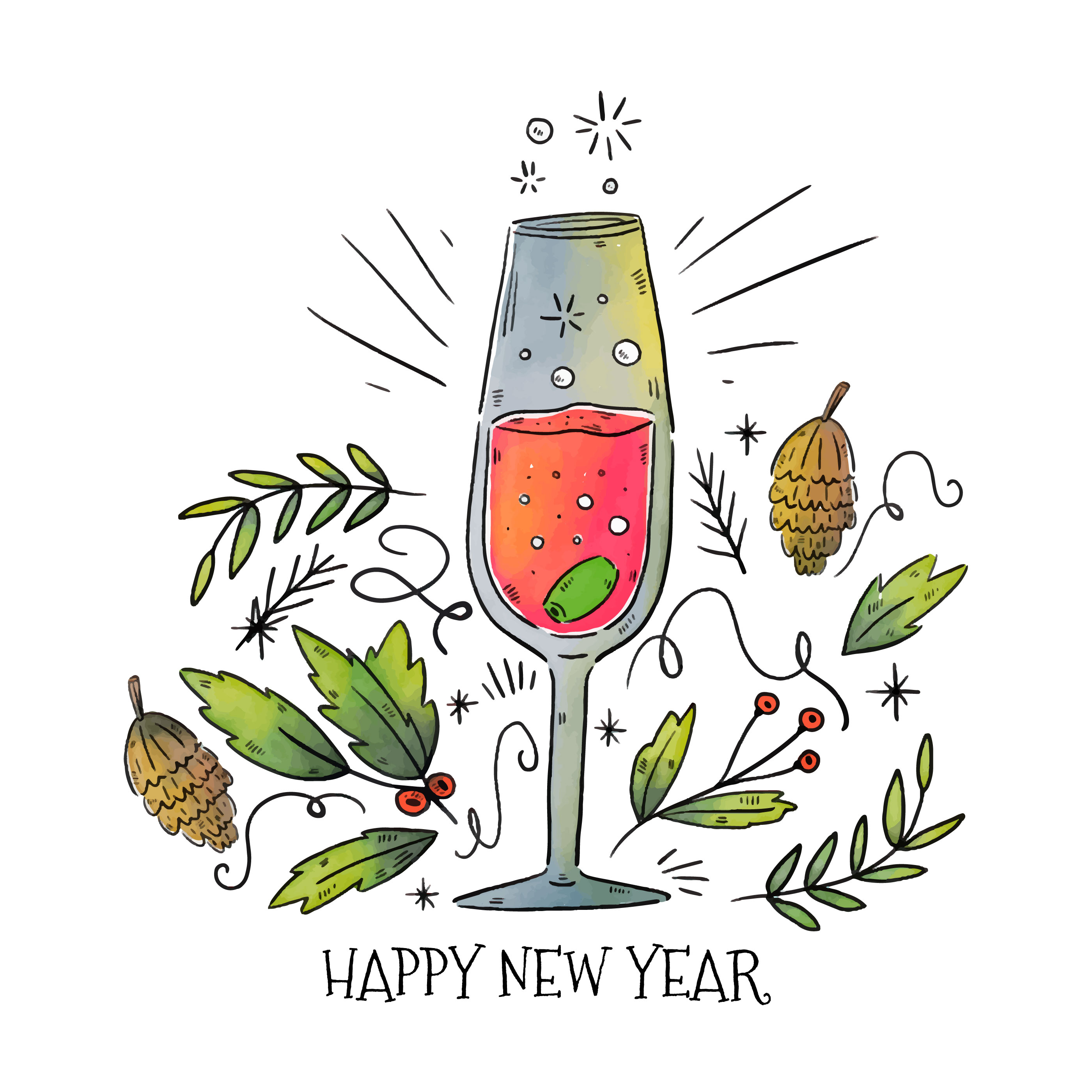 new year champagne vector download free vector art stock graphics images