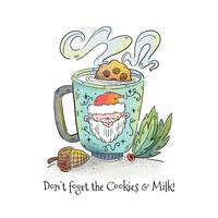 Galletas y leche para Santa Vector