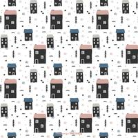 Scandinavian Winter Vector Pattern