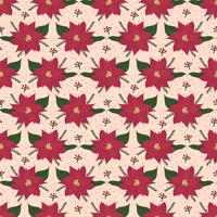 Poinsettia Vector Pattern