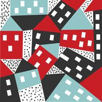 Abstract House Vector Pattern