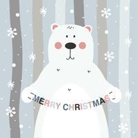Fondo de Vector de oso de Navidad