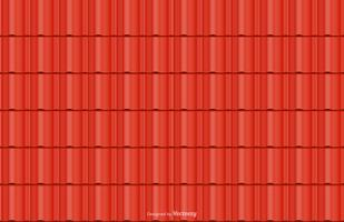 Red Roof Tile Vector Seamless Background