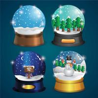 Realistic snow globe vector