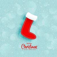 fond bleu avec des chaussettes d'hiver de Noël