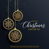 beau fond de Noël de luxe avec des balles suspendues