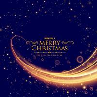 snygg god jul bakgrund med glödande våg effekt