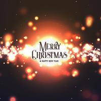 abstract merry christmas design with bursting light effect