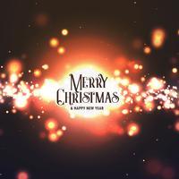 Resumen diseño de feliz Navidad con efecto de luz estalla