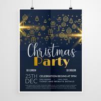 donkere vrolijk kerstfeest evenement flyer poster ontwerpsjabloon