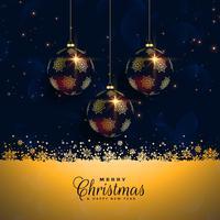 premium christmas ball festival bakgrund