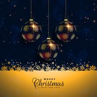 premium christmas balls festival background