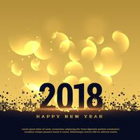 premium 2018 hew year greeting card design in golden style