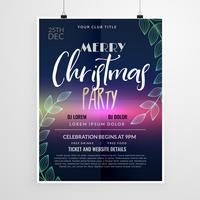prachtige kerstfeest flyer ontwerpsjabloon