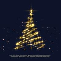glanzende sparkles creatieve kerstboom ontwerp