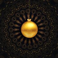 lyxig jul hälsning med mandala design