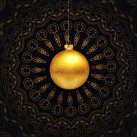salutations de Noël de luxe avec un design de mandala