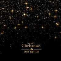 Fondo negro con destellos y purpurina para navidad festiva.