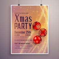 partij uitnodiging sjabloonontwerp voor Kerstmis seizoen