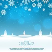 Escena de paisaje de invierno hermoso para el festival de Navidad