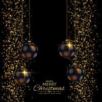 premium Kerst vakantie achtergrond met glitter