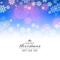 eleganter Schneeflockenhintergrund für Weihnachtsferienzeit