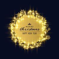 glanzende sparkles en sneeuwvlokken voor kerstvakantie festival