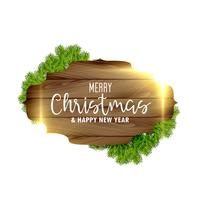 christmas festival background with wooden frame and light effect