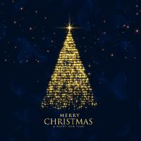 glänzendes Funkeln funkelt kreatives Weihnachtsbaumdesign