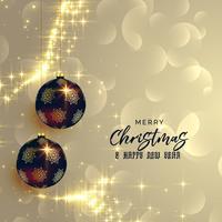 premium Kerst achtergrond met glanzende sparkles