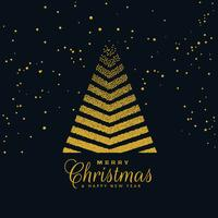 creatief kerstboomontwerp op donkere achtergrond