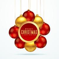group of golden luxury christmas balls for festival season greet