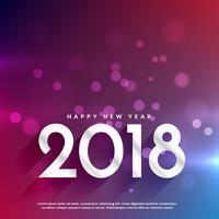elegante 2018 feliz ano novo bokeh fundo colorido
