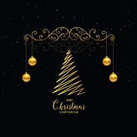 jul dekoration hälsning i premium gyllene stil