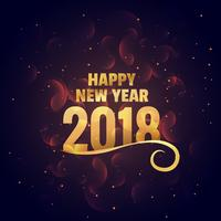 happy new year golden background greeting